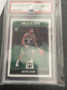 Jayson Tatum 2017-18 Hoops PSA 10 Gem Mint Rookie Card RC Panini NBA #253