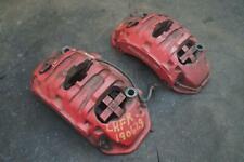 Set Front Brake Caliper & Bracket Red 7PP615123 Porsche Cayenne S 958 2011-18