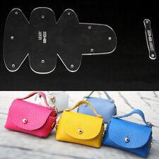 Leather Fashion Handbag DIY Sewing Pattern Kraft Stencil Template craft supplies