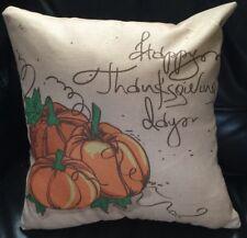 New Holiday Thanksgiving Pumpkins Sofa Throw Pillowcase Sham 18 x 18 Square