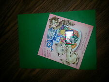 Vintage 1940's Child's Get Well Greeting Card w Tatoo Gum