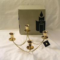 Brass PARTYLITE Quartet Candle Holder Centerpiece~NIB w/Original Tag~Retired