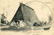 """"""" NETTUNO (RM) : Capanna di contadini """" Viaggiata 1902"""