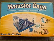 Hamster Cage 2 Storey Personalised Small Pet Boys Blue Wheel Water Food Bowl