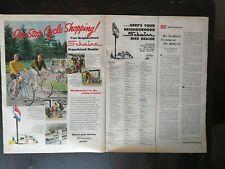 Vintage 1969 Schwinn 10-Speed Bike Bicycle Two Page Original Ad