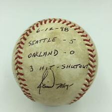 Jamie Moyer Signed Final Pitch Game Used Baseball From 1998 3 Hit Shutout JSA