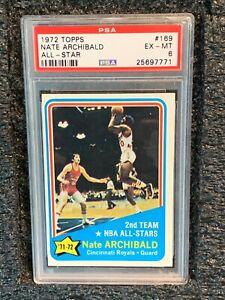 1972 Topps Basketball #169 Nate Archibald All Star PSA 6 EX-MT