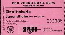 Ticket 1985 Turnier Botafogo Rio de Janeiro, Servette Genf, Young Boys Bern, BMG