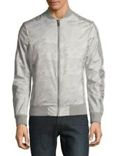 Karl Lagerfeld Paris Camouflage Bomber Jacket Silver Large ($198) NEW W/TAG
