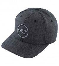 O'Neill ELEVATE Mens Flexfit Cotton Blend Hat Size L/XL Black Herringbone NEW