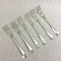 Antique Christofle Silver Plated Cutlery Dinner Forks Baguette Fidelio Set of 6