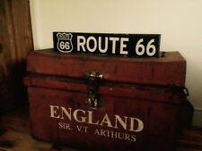 Route 66 Sign American Car Garage Vintage Old Gift One Off Wood Sign