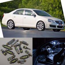 15pcs White Interior LED Lights Package Kit For VW MKV Jetta V Sedan 2006-2010