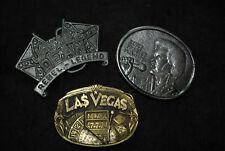 Vintage belt buckles, Americana, Set of 3