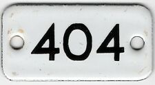 Old English small enamel house number 801 door gate plate fence plaque sign