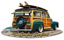 New 1947 Woody Surfing Safari Auto Racing Garage Shop Man Cave Metal Sign LG774