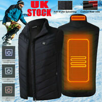 Electric Vest Heated Jacket USB Thermal Warm Heat Pad Winter Body Warmer Unisex