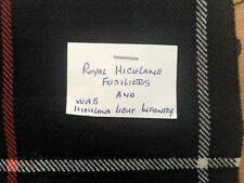 Royal Highland Fusiliers (was Highland L.Infantry) Tartan 4 Medal/Badge Mounting