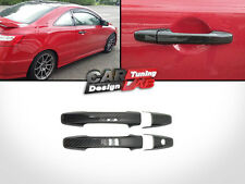 Carbon Fiber Door Handle Overlay Covers Fits 2006-up Honda Civic 2 Door Coupe SI