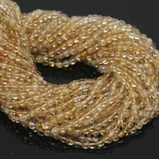 Wholesale 3 Strand Lot Citrine Smooth Round Ball Loose Gemstone Bead 4mm 3mm 13""