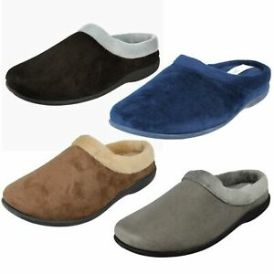 Ladies Sleephhh Slip On Home Comfort Suede Slippers Claire