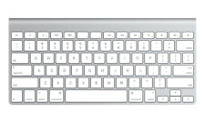 Apple MC184LL/A Bluetooth Wireless Keyboard Silver - Spanish
