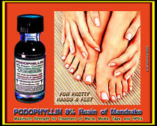 Podophyllum Resin of Mandragora Plant 15ml Maximum Strength 8% f/ Wart Treatment