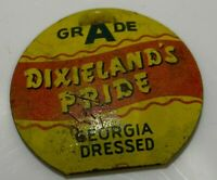 Grade A Dixieland's Pride Georgia Dressed Poultry Chicken Inspection Tag Seal