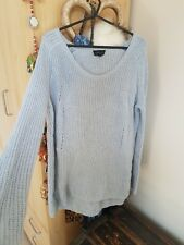Topshop Size 8 Blue Knitted Jumper