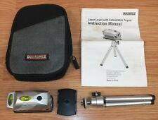 Genuine Durabuilt Laser Level with Extendable Tripod, Case & Manual **READ**