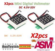 2pcs 0.36 Inch 4.5V-32V Mini Digital Voltmeter Voltage Tester Meter LED Screen