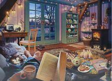 New Sealed Ravensburger 1000 Piece Jigsaw Puzzle Cozy Retreat Artist, Steve Read