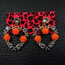 Betsey Johnson Women's Ceramic Crystal Garland Flower Bouquet Ear Stud Earrings