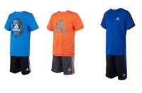 NEW Adidas Boys Youth 2-piece Short Set- VARIETY