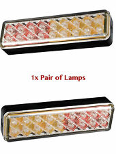 LED 135ARME, Slim Clear Effect Stop/Tail/Indicator Rear Lights (12-24v) 1x Pair