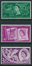 GB 1957 COMMONWEALTH GAMES CARDIFF SET OF 3 FINE MINT MNH SG567-SG569