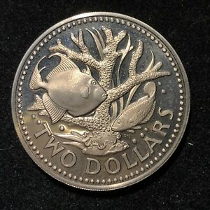Barbados 1977 Two Dollars Proof Coin