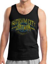 Batman Gotham Basketball Vest Classic Justice League DC Comics Black Men Tanktop