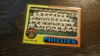 1975 TOPPS # 46 PHILADELPHIA PHILLIES  BASEBALL CARD