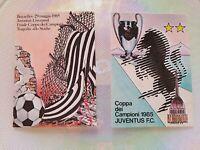Rara 2 Cartoline Juventus 29 Maggio 1985 Finale Coppa Campioni Juve Liverpool