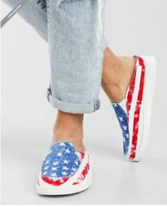 Hey Dude Star Spangled Lexi shoes mules Size 9 American Flag SOLD OUT EVERYWHERE