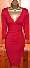 Gorgeous PHASE EIGHT Red Stretch Cocktail Wiggle Dress UK 12 Occasion