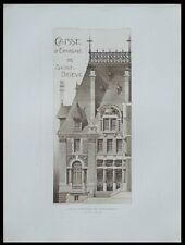 SAINT BRIEUC, CAISSE D'EPARGNE - 1911 - PLANCHE ARCHITECTURE - LEFORT