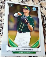 MATT CHAPMAN 2014 Bowman Chrome #1 Draft Pick Rookie Card RC LOT Athletics A's