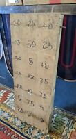 ANTIQUE-VTG CARNIVAL GAME RING TOSS FAIR WOOD PEG 30X11 FOLK ART HANDMADE SIGN