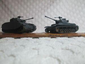 2 ROCO Model German Panser IV Tanks HO Scale #10 Made in Austria DBGM nr