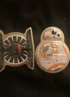 Disney STAR WARS Tie Fighter (cinnamon) And BB-8 (orange) Sealed Mint Tins