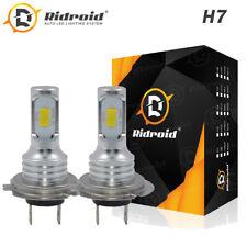 2x H7 Led Headlight Bulb Kit High Low Beam 100W 30000Lm Super Bright 6500K White