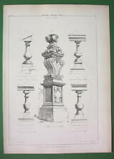 ARCHITECTURE PRINT : ROMA Palace Barberini Farnese Stair Balusters