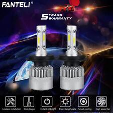 Pair H4 9003 HB2 1500W 225000LM Car LED Headlight CREE COB Kit 6000K White Lamps
